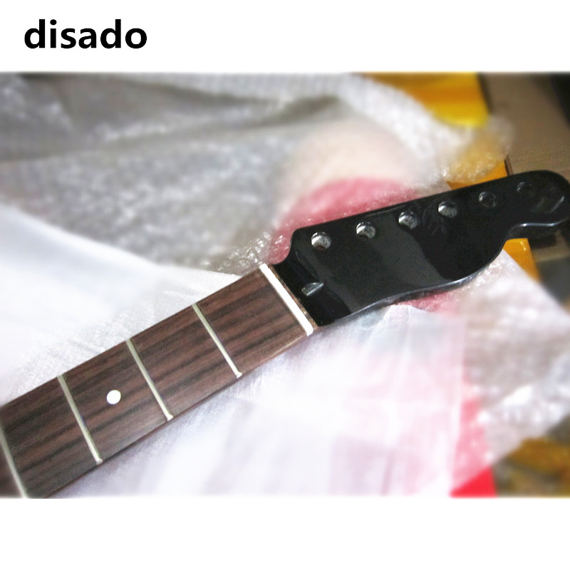 disado 21 Frets Maple Electric Guitar Neck Rosewood Fretboard Inlay Dots Glossy Paint Guitar parts Accessories Can Be Customized wilkinson guitar accessories st electric guitar three single coil pickup all colors can be customized real photos free shipping