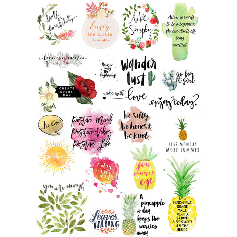 2 Pcs/lot Colorful Fruit Word Decoration Mohamm Planner Diy Sticker Pack Post It Notebook Bullet Journal Stickers Scrapbooking