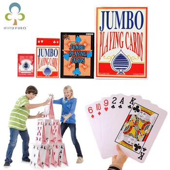Ponadgabarytowe karty do gry s Pokers 2 razy 4 razy 9 razy karty do gry w pokera do gry planszowej gry hazardowe magiczne sztuczki narzędzia GYH tanie i dobre opinie 6 lat nieograniczone Primary Papier Normalne IFITU PUBO
