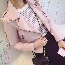 2017  women motorcycle faux soft leather jackets  winter autumn brown black coat outwear hot sale