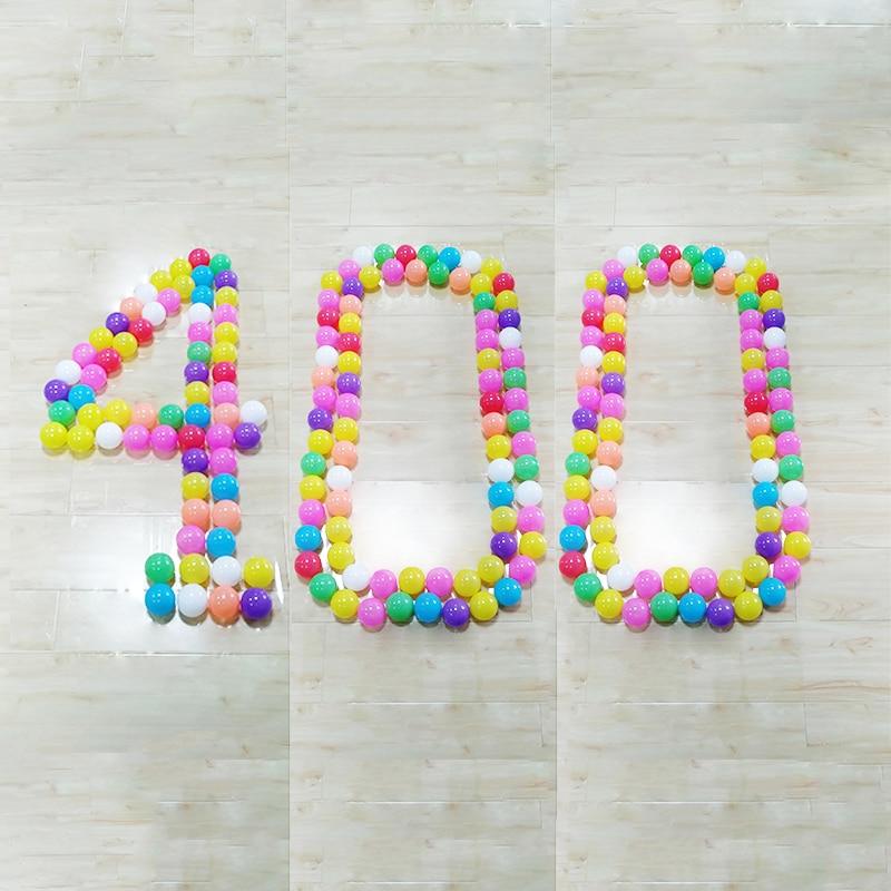 Boules pour la Piscine Bébé Playpen400pc Gros Pit Boules de Couleur En Plastique Clôtures Pour Enfants Bébé Clôture