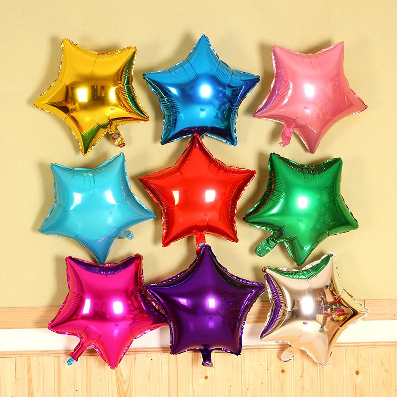 10 pcs lot 18   five-pointed star shaped foil Balloons Helium Metallic  Mixed color balloons Wedding birthday party decoration 06f5af61084f