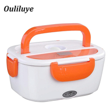 220V EU Plug for Electric Food Heat Plastic Heated Food Container Hot Meals Lunch Portable for School Office Heating Lunch Box