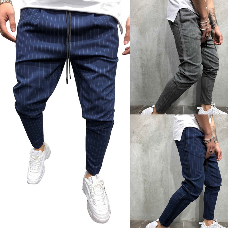 LASPERAL Mens Twill Fashion  Pants 2019 New Striped Urban Straight Casual Trousers Slim Fitness Long Pants S-3XL Plus Size
