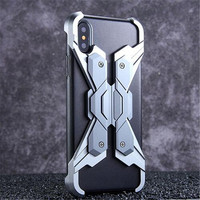 Metal Armor Shock Droproof Shockproof Mobile Phone Bag Case for IPhone X 7 8 X 6S 6 6S Plus coque
