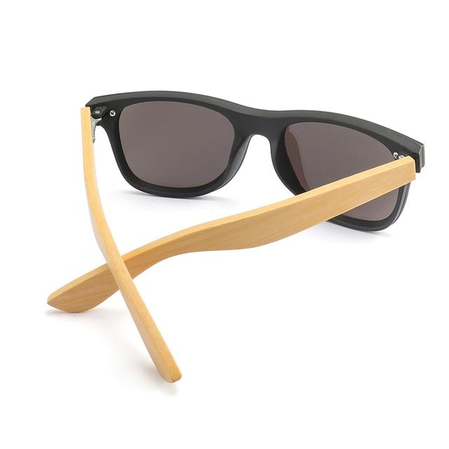 Wood Sunglasses Men Women Square Bamboo Women for Women Men Mirror Sun Glasses Oversize Retro De Sol Masculino Handmade 5