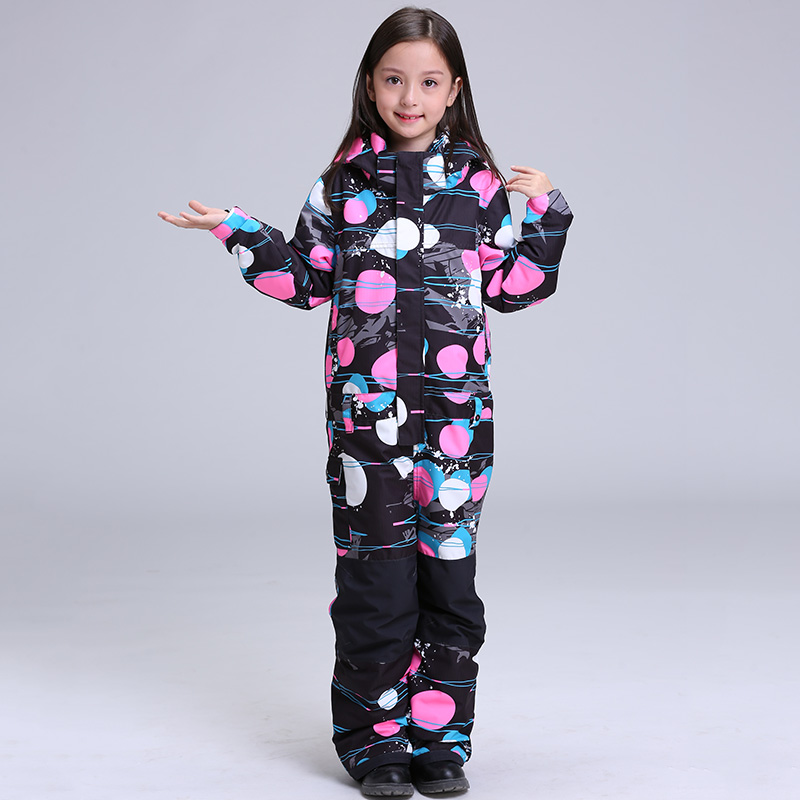 2019 GSOU neige filles une pièce Ski costume enfants enfants Snowboard costume coupe-vent imperméable thermique plein air Sport porter une pièce