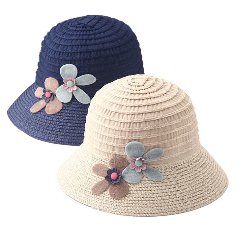568adabeac47 Detail Feedback Questions about 2018 New Summer Kids Floral Straw Hats  Fedora Hat Children Visor Beach Sun Baby Girls Sunhat Wide Brim Floppy  Panama For ...