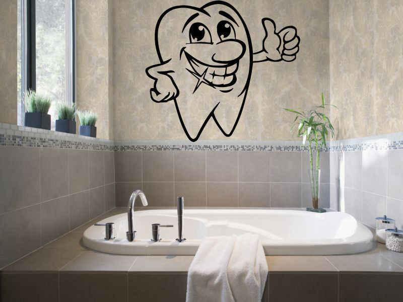 ملصق لطب الأسنان DCTAL ملصق لطبيب الأسنان ملصقات جدارية من الفينيل ملصقات جدارية لتزيين الجدران Pegatina ملصقات جدارية للأسنان