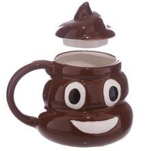 Funny Kuso Shit Mug Creative Ceramic Coffee Cup Kawaii Emoji Tea Cup Porcelain Zakka Novelty For Friend April Fools'Day Gift