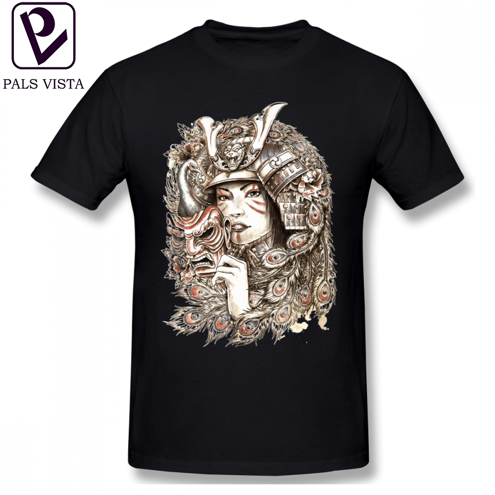 Peacock T Shirt Peacock Samurai T-Shirt Men Fun Tee Shirt Printed Short Sleeve Basic 100 Percent Cotton Plus size Tshirt