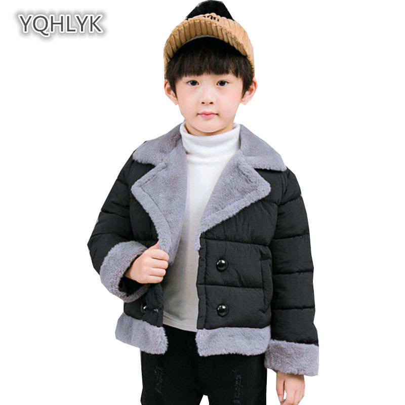 Children's fashion autumn winter boy cotton coat thick warm lapel boys cotton short casual kids Parkas Outerwear LK217 newly design dog pug watch women girl pu leather quartz wrist watches ladies watch reloj mujer bayan kol saati relogio feminino