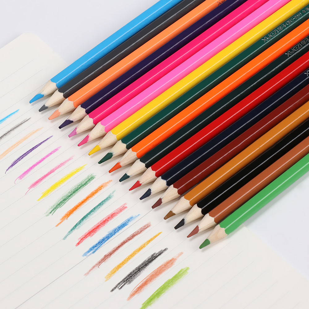 Us 4 25 25 off18 colors box flamingo non toxic drawing pencils colored pencil artist professional drawing colored writing sketching pencil on