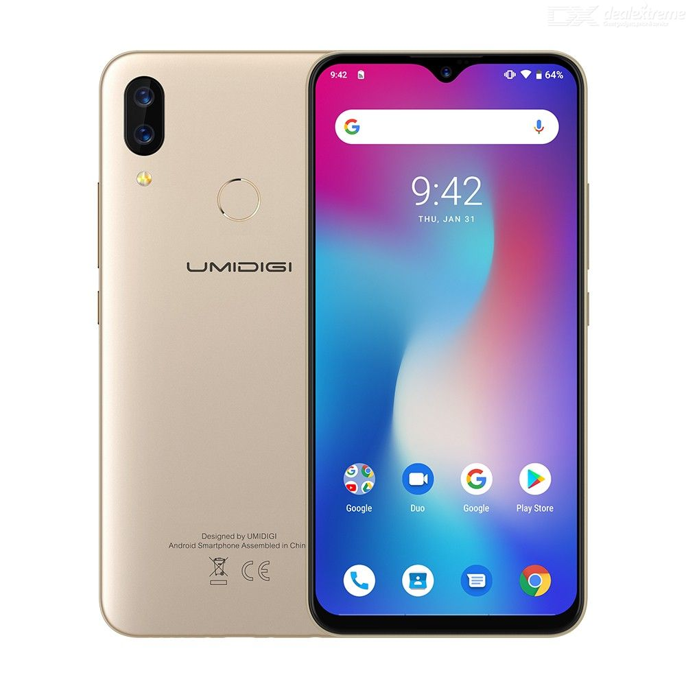 Image 2 - UMIDIGI Power Android 9.0 5150mAh Big Battery 18W 6.3' FHD+ Waterdrop Screen 4GB+64GB Helio P35 Global Version Smartphone 16MP-in Cellphones from Cellphones & Telecommunications