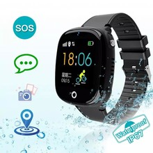2019 Anti Lost Child Watch GPS Tracker SOS Smart Monitoring Positioning Phone IP67 Waterproof Kids GPS Watch For IOS Android(China)