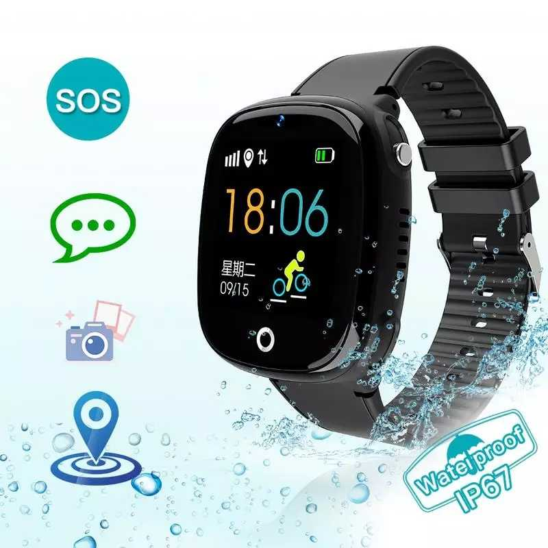 2019 Anti Lost Child Watch GPS Tracker SOS Smart Monitoring Positioning Phone IP67 Waterproof Kids GPS Watch For IOS Android