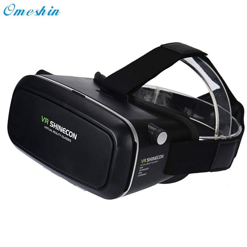 Hot! 2017 New 3D Virtual Reality VR Shinecon 3D Glasses Head Mount Movies Games for Smartphone high quality Feb27