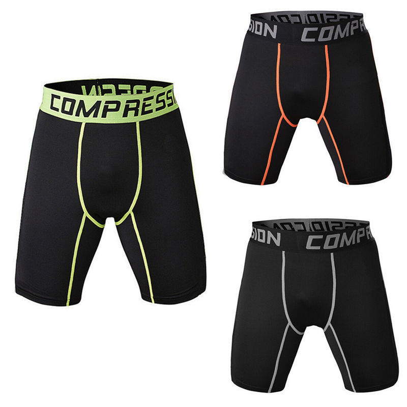 Mens Compression Sports Short Pants Fitness Running Gym Pouch Shorts Underwear