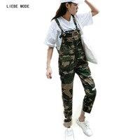 100 Cotton Camouflage Denim Overalls Women Bib Overalls Pants Slim Fit Women S Jean Jumpsuit Size