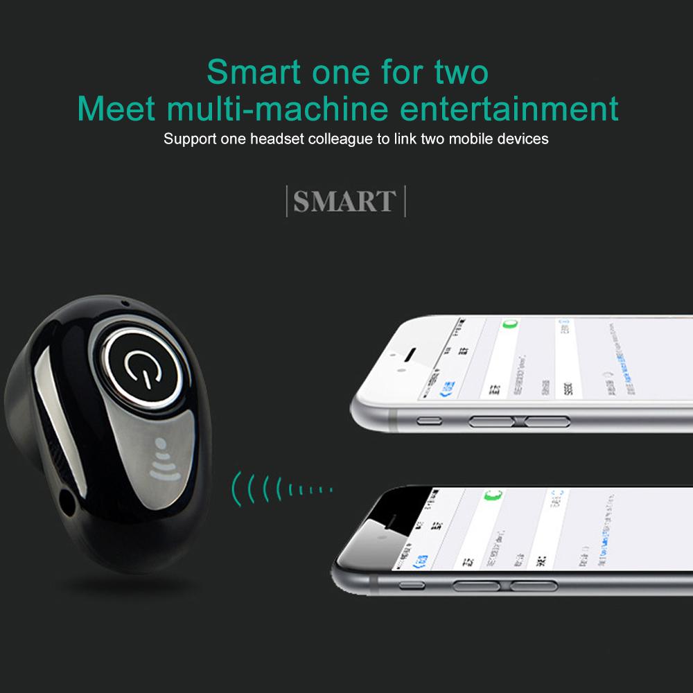 S650 Mini Bluetooth Earphones Wireless Headphones Headset wint Mic Earbuds for xiaomi iphone huawei (5)
