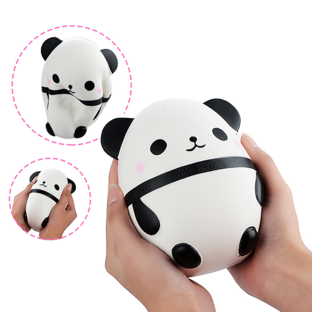 Jumbo Squishy Kawaii Panda Bear Egg Candy Soft Slow Rising Stretchy Squeeze Kid Toys Relieve Stress Phone Straps Children Gifts Traveling Advertising Automobiles