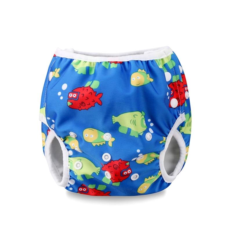 NEW Adjustable Baby Boys Girls Summer Swim Diaper Print Trunks Waterproof diaper baby Swimwear