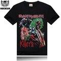 Iron Maiden Rocksir Metal Rock Band Camiseta de Algodón de Calidad Marca Camiseta de Los Hombres T-shirt Negro de Manga Corta Camisetas Tops ST24