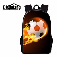Dispalang Ball 3D Pattern Rucksack For Boys Personalized School Backpack For Teeanger Guy Element Bookbags High