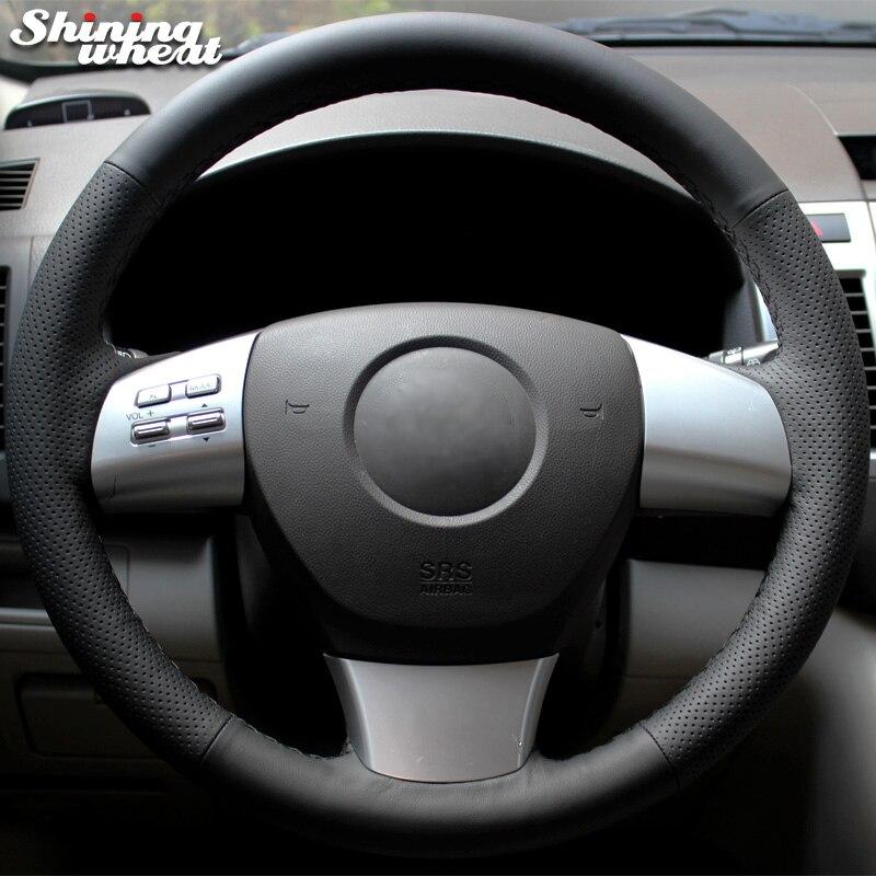 BANNIS Black Genuine Leather Car Steering Wheel Cover for Mazda 6 2010 Gh Mazda 8