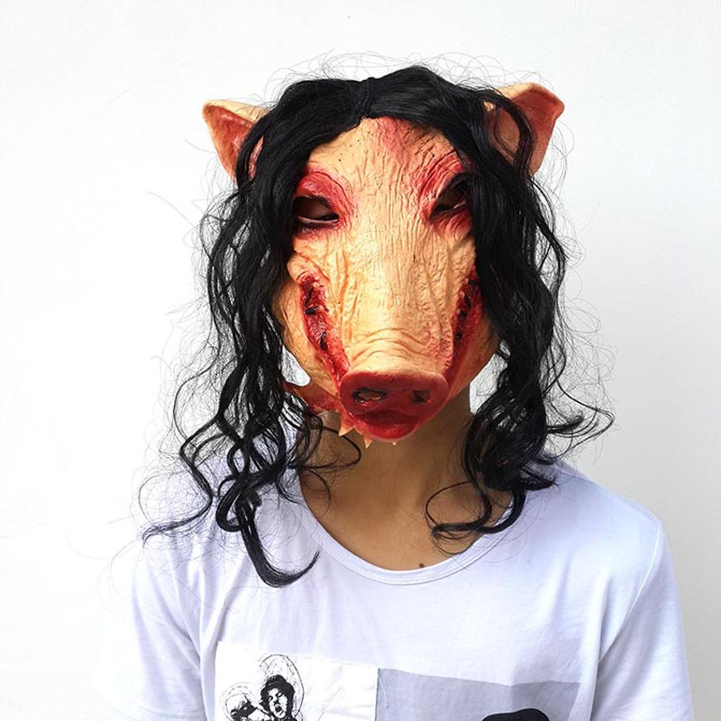 Boys Costume Accessories Costumes & Accessories 1pcs Pig Head Scary Masks Novelty Halloween Mask Halloween Mask Caveira Cosplay Costume Latex Festival Supplies Cheapest Price From Our Site
