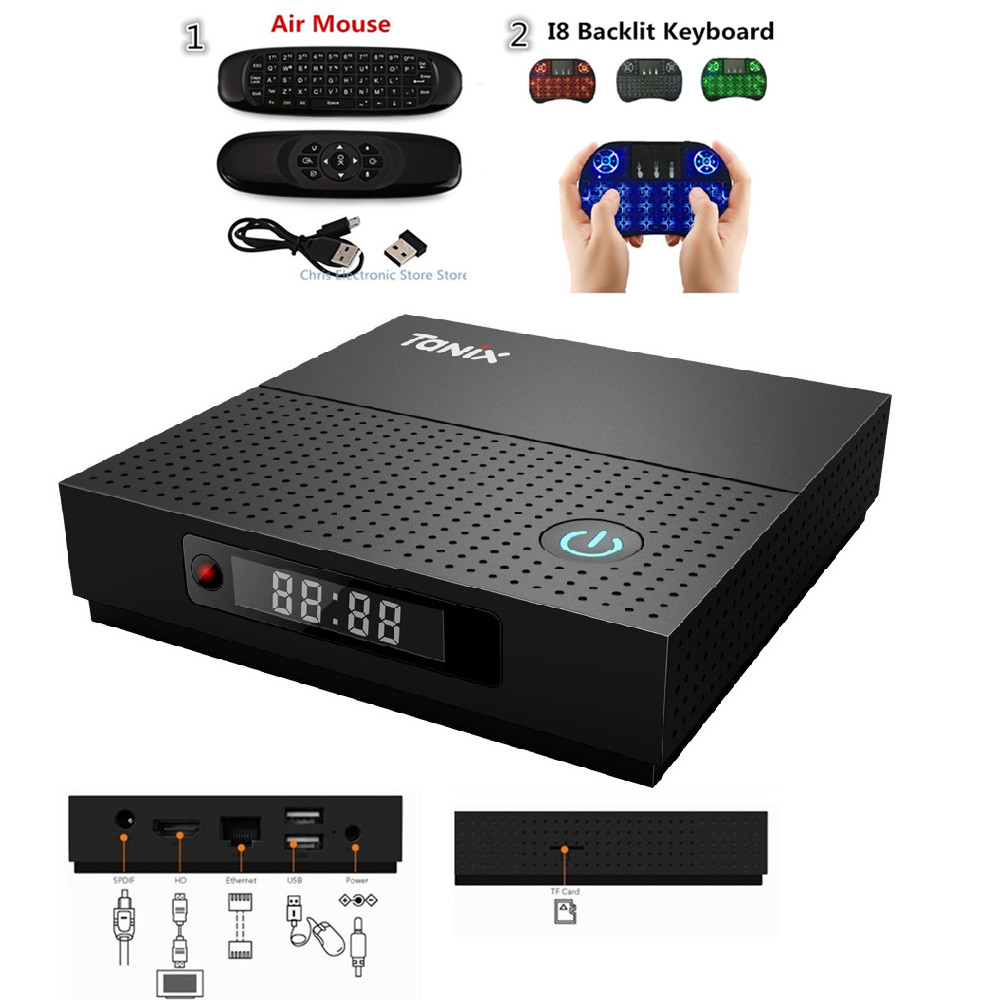 Tanix TX92 TV Box Amlogic S912 Octa core Android 7.1 Bluetooth 2G 16G 3G 16G 3G 32G HDMI 2.0 Dual Band Wifi Set top Box m8 fully loaded xbmc amlogic s802 android tv box quad core 2g 8g mali450 4k 2 4g 5g dual wifi pre installed apk add ons
