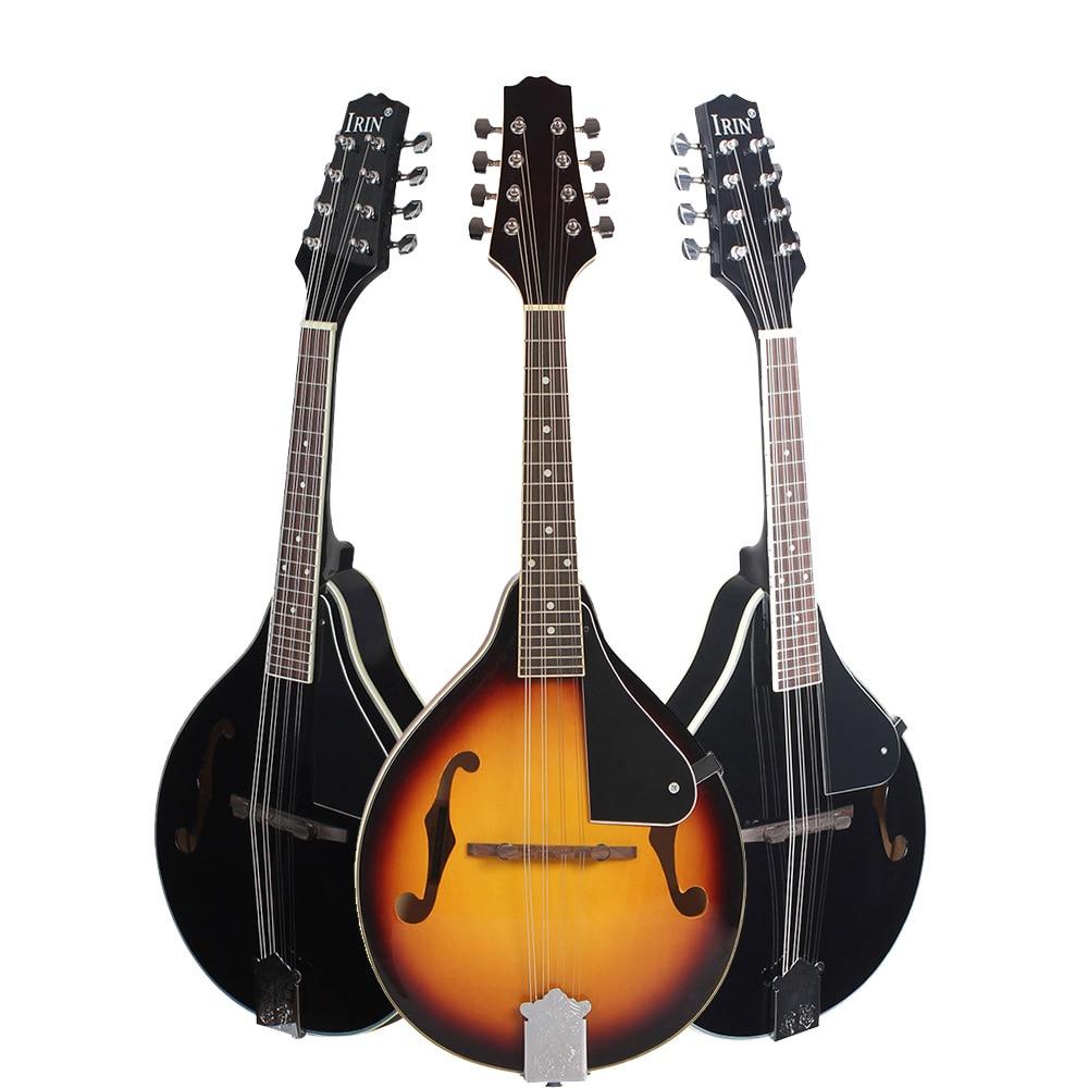 UM Estilo 8 Cordas Basswood Bandolim Ukulele Instrumento Musical com Rosewood Bandolim Cordas De Aço Guitarra Instrumento Ajustável - 6