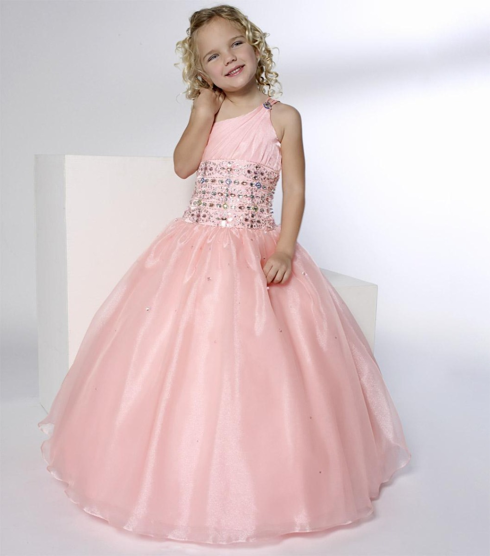 New 2015 Flower Girls Pageant Dresses Ball Gown Quinceanera Dresses ...