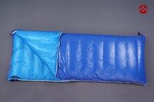 Envelope single 1 personu ultra-light 600g/900g goose down filling winter hiking mountainneering outdoor camping sleeping bag