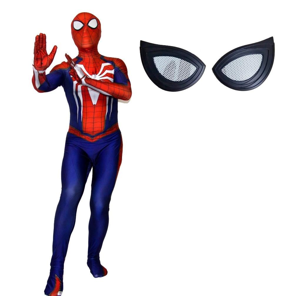 Nuevo ps4 insomniac spiderman disfraz Spandex juegos Spidey Cosplay ... 0823766b1102