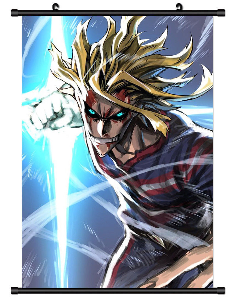 anime poster boku no hero academia all might decor wall scroll printed painting home decor japanese cartoon decoration poster
