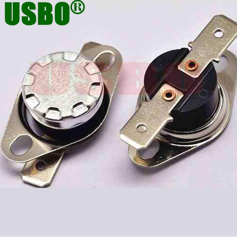 Durevole salto Improvviso 250 V 10A termostato protettore termico 110 gradi normalmente chiuso interruttore di controllo della temperatura KSD301 10 pz