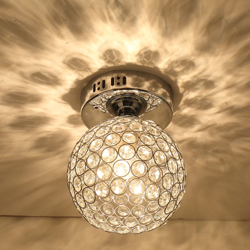 LED High quality Modern ceiling lamp Ideas Painted K9 Crystal Ceiling Lamp Bedroom 1 Light 110-240v factory direct sale