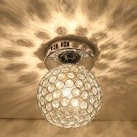 LED wysokiej jakości nowoczesna lampa sufitowa pomysły malowane K9 kryształowy sufit lampa sypialnia 1 światło 110 240v factory direct sale w Oświetlenie sufitowe od Lampy i oświetlenie na