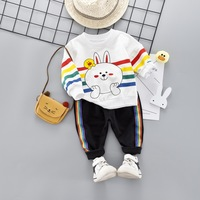 Korean Cartoon Rabbit Baby Girl Clothes Cotton Blend Bear Print Baby Boy Outfit Brand Long Sleeve Casual Newborn Infant Clothing