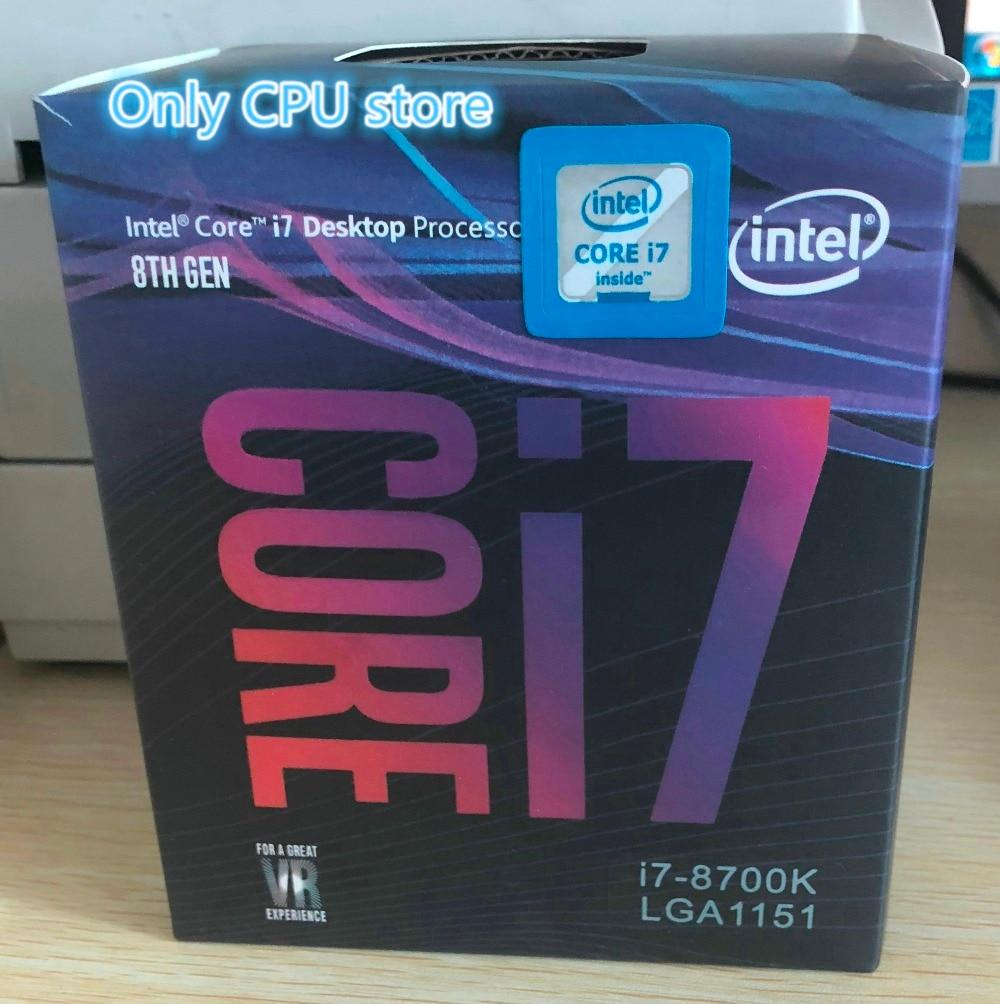 US $445 88 |Intel PC computer Core 8 series Processor I7 8700K I7 8700K  Boxed processor CPU LGA 1151 land FC LGA 14 Six Core cpu-in CPUs from  Computer