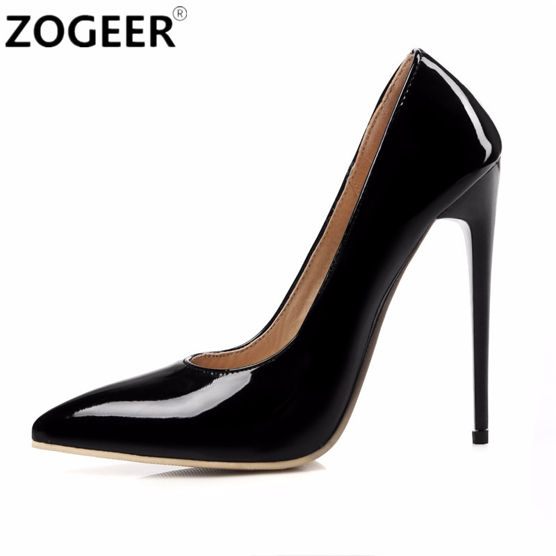 Plus Size 46 2017 New Fashion Brand Designers High Heels Women Pumps Thin Heel Black Red White Nude Sexy Wedding shoes Woman brand new sexy women motorcycle boots black red beige white lady ankle riding shoes fashion nude heels ay902 plus big size 43 48