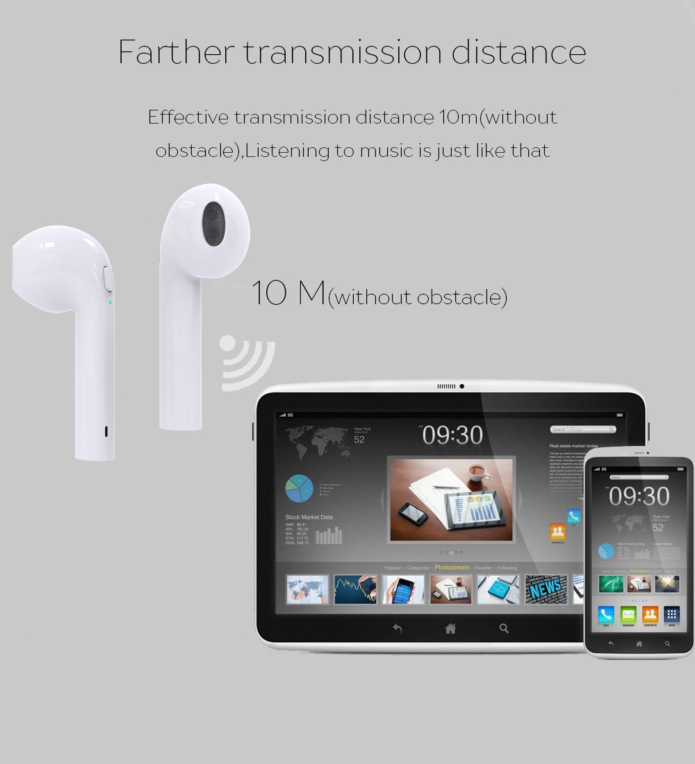Wireless mini music bluetooth earbuds earphones TWS double headset with storage box for iPhone X plus Samsung iPhone 8 Xiaomi LG