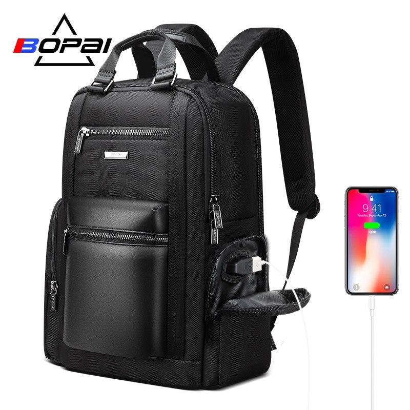 BOPAI New Laptop Back Pack Bags Men Multifunctional Business Travel Backpack Men 90 Degree Free Open