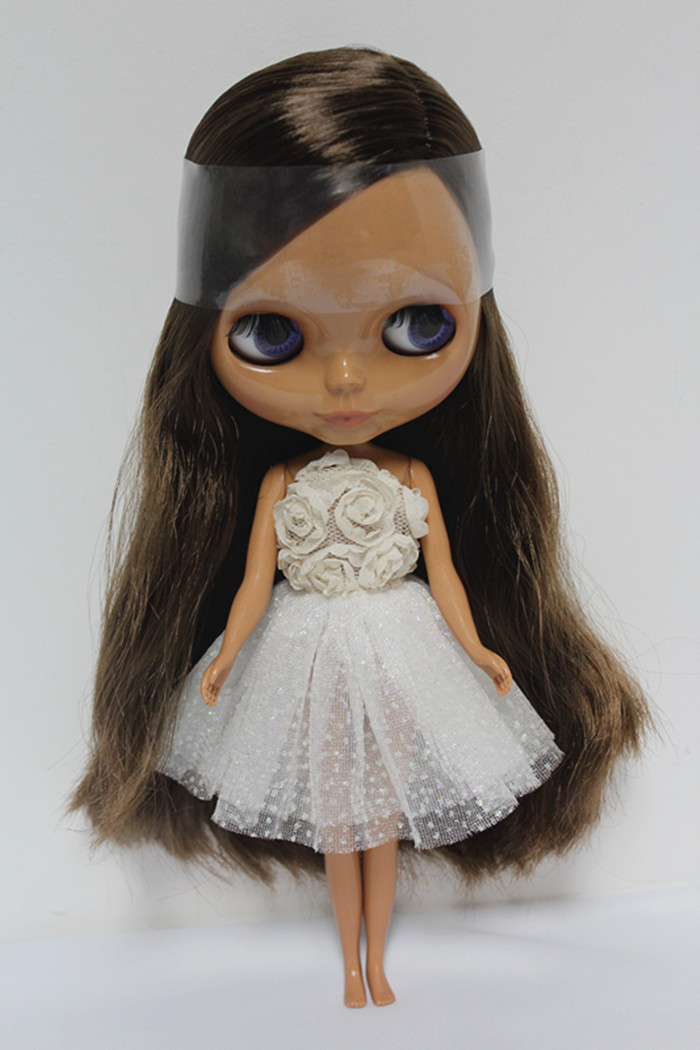 Free Shipping big discount RBL-117DIY Nude Blyth doll birthday gift for girl 4colour big eyes dolls with beautiful Hair cute toy free shipping bjd joint rbl 415j diy nude blyth doll birthday gift for girl 4 colour big eyes dolls with beautiful hair cute toy