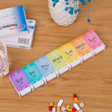 7 Days Tablet Push-type Bouncing Pill Box Holder Weekly Medicine Storage Organizer Container Cases New