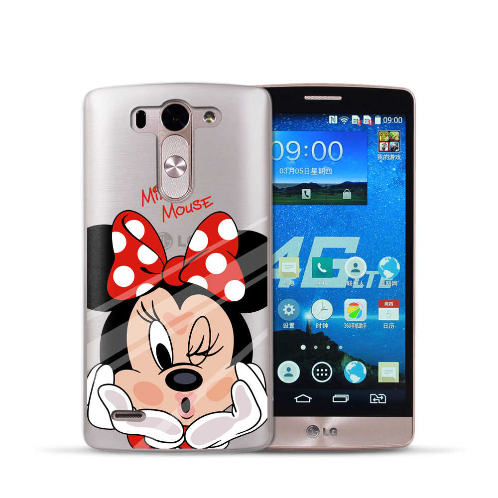 """G3 D855 Cartoon Soft TPU Silicone Case For LG Optimus G3 D855 D856 D857 D859 D858 5.5"""" Cover Cell Phone Protect ShockProof Bag"""