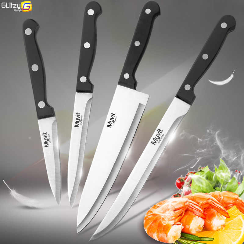 Kitchen Knife 3.5 5 8 8 inch knives Chef Set 3CR13 420C High Carbon Stainless Steel Vegetable Utility Slicing Carving Fruit Tool
