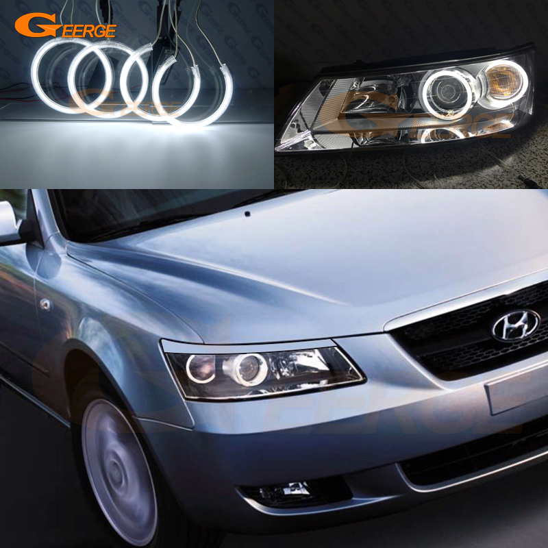 For Hyundai Sonata 2006 2007 2008 Excellent Ultra bright headlight illumination CCFL Angel Eyes kit Halo Ring