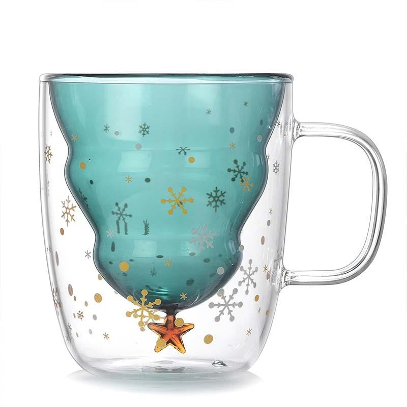 Snowflake Latte Glass